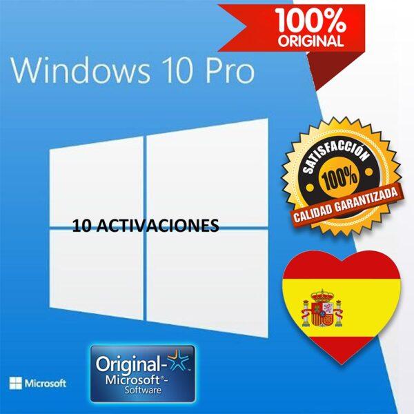 Windows 10 PRO ESPAÑOL CLAVES
